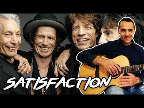 Rolling Stones - Satisfaction - Easy Guitar Lesson EASY RIFF + ...