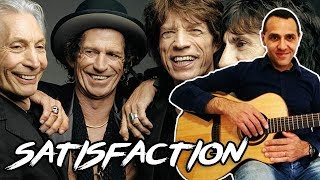 Rolling Stones - Satisfaction - Easy Guitar Lesson EASY RIFF + CHORDS