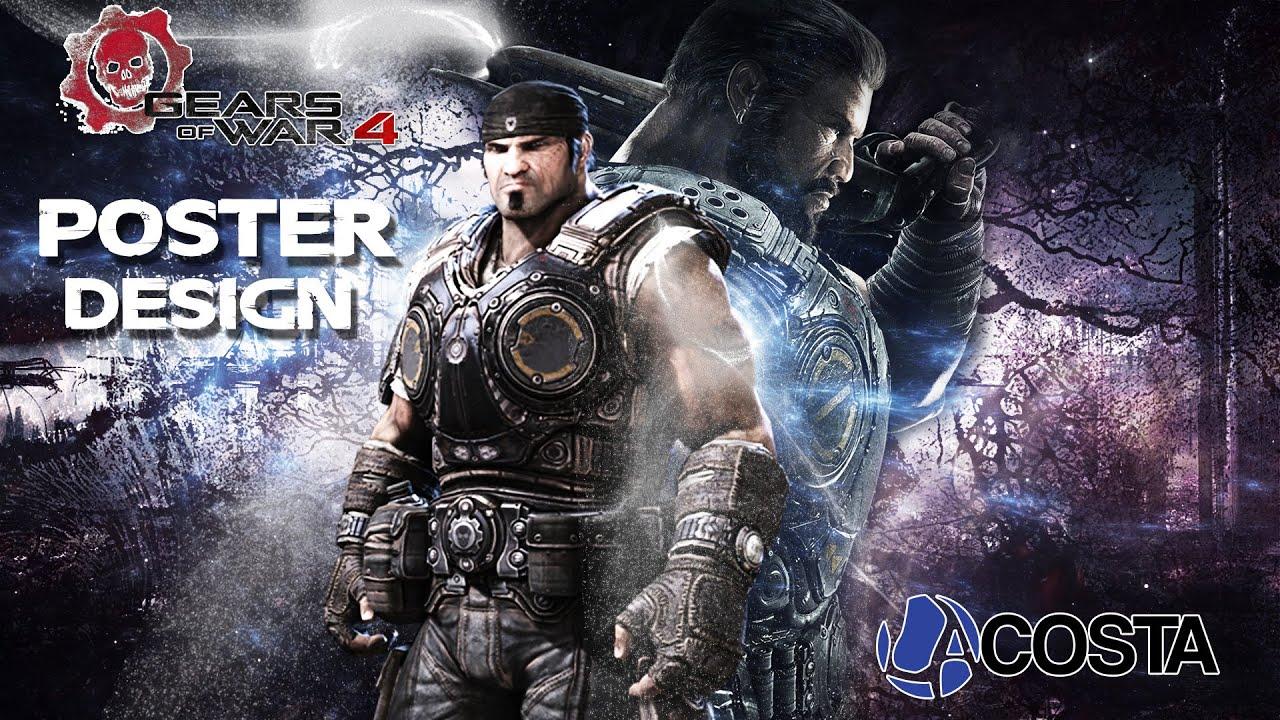 (Photoshop) Speed Poster Design: Gears Of War 4