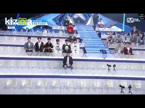 (ENG SUB )Produce 101 Samuel Chooses Jeon Somi Seat And Guan Lin Says Sameul Is Like Somi ~