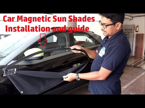 Hindi || Car Magnetic Sun Shades Installation And Guide