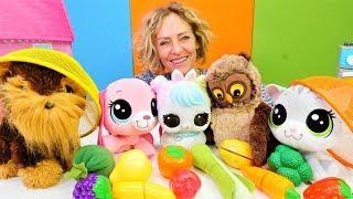 Nicoles Spielzeug Kindergarten - Wir lernen Obst und Gemüse - Kindervideo auf Deutsch