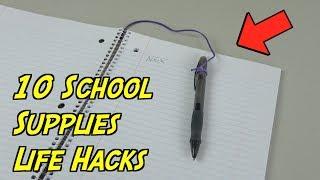 10 Simple School Supplies Hacks That Will Make Things Easier- SCHOOL LIFE HACKS