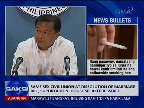 Saksi: Same sex civil union at dissolution of marriage bill, suportado ni House Speaker Alvarez