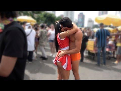 Kissing Brazilian Girls In Carnaval Part 2