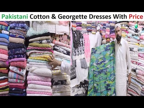 Pakistani Cotton And Georgette Dresses With Price || Paposh Cloth Market