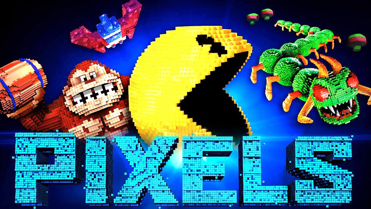 PIXELS Characters Trailer (Centipede, Donkey Kong, Pac Man ...