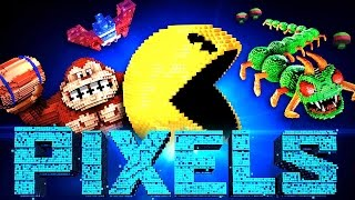 PIXELS Characters Trailer (Centipede, Donkey Kong, Pac Man...)