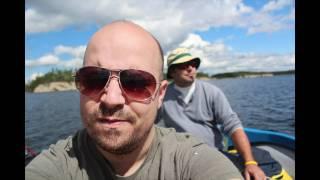 Pêche en bateau maison sur le réservoir gouin