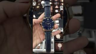 emporio armani ar1862 classic blue leather gold chrono mens watch