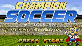J - League Champion Soccer - (Mega Drive) - Completo