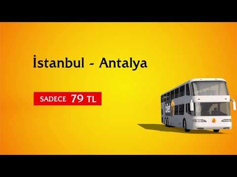 İstanbul - Antalya Otobüs Bileti Sadece 79 TL Biletexpert.com