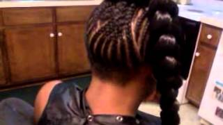 beyonce jumbo braid with sew in bang natural hair with thin edges