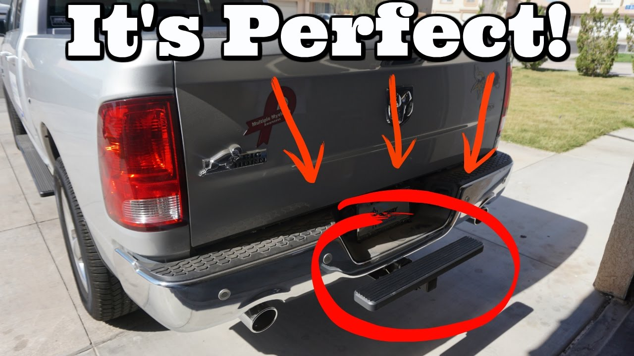 Dodge Truck Parts >> iStep Universal Hitch Mounting Step Unboxing And Install On A Dodge Ram! ️ - YouTube