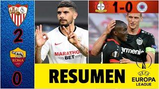 RAÚL JIMÉNEZ ya tiene rival: Sevilla eliminó a la Roma. Leverkusen a cuartos | RESUMEN Europa League