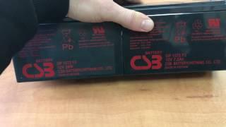 видео Батарея для ИБП CSB GP1272 F2 12V/28W