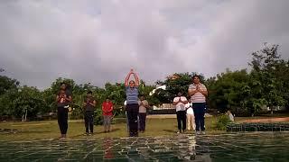 Nakshatra Society सूर्यनमस्कार at त्रिवेणी आश्रम