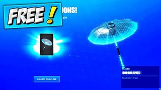 How To Get *FREE* HOLOGRAPHIC UMBRELLA (FREE REWARDS) Fortnite Season 9 Victory Royale Win GLIDER