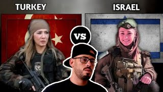 REACTION to turkey vs isreal military comparison 2020