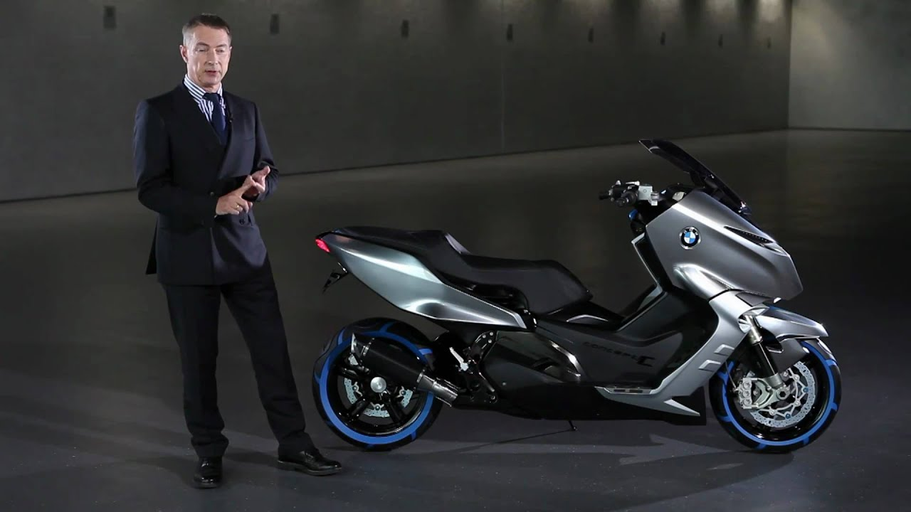 The first scooter by BMW Motorrad - BMW Concept C - YouTube