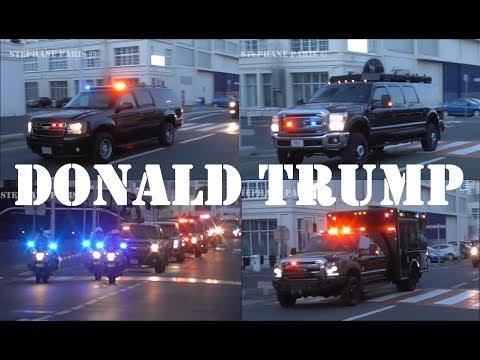 Donald Trump Massive Motorcade In Paris