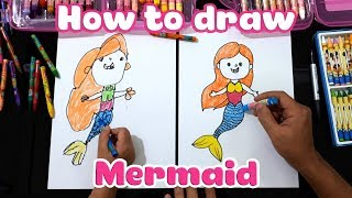 Dạy bé học vẽ Nàng tiên cá ♥ How to draw a Mermaid ♥
