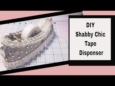 DIY Shabby Chic Tape Dispenser so easy..