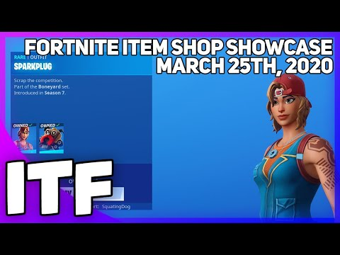 Fortnite Item Shop SPARKPLUG IS BACK! [March 25th, 2020] (Fortnite Battle Royale)