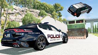 Police Car Chases #32 - BeamNG DRIVE | SmashChan