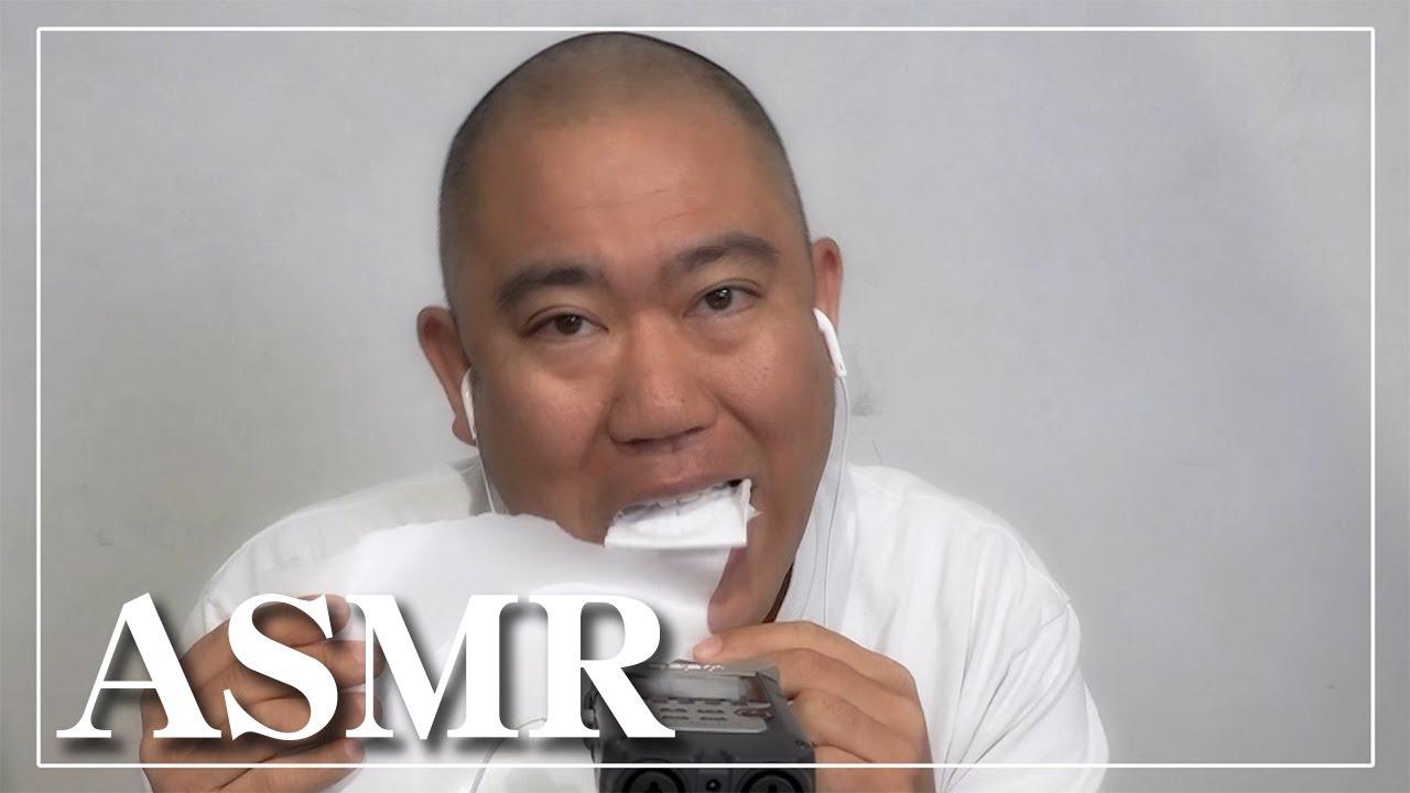 【ASMR】ナダル文房具を食べる【咀嚼音】クレヨン/液体のり/ボンド/紙