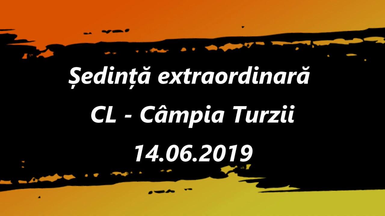 Ședință extraordinară CL Câmpia Turzii (14.06.2019)