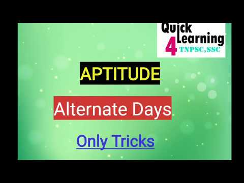 Alternative Days | Time & Work Tricks | Tamil/English|