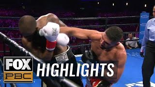 Ahmed Elbiali knocks down Allan Green in all rounds, secures KO victory | HIGHLIGHTS | PBC ON FOX