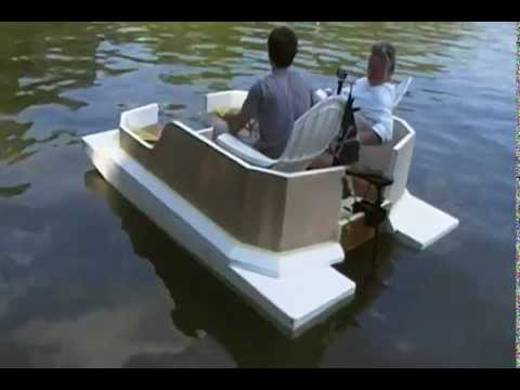 Maiden Launch of our Pontoon Boat - YouTube