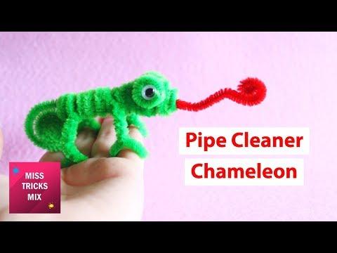 Pipe Cleaner Chameleon DIY Tutorial.