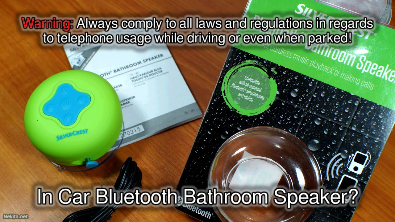 Bluetooth Bathroom Mirror Youtube on the road - in car bluetooth bathroom speaker? - youtube