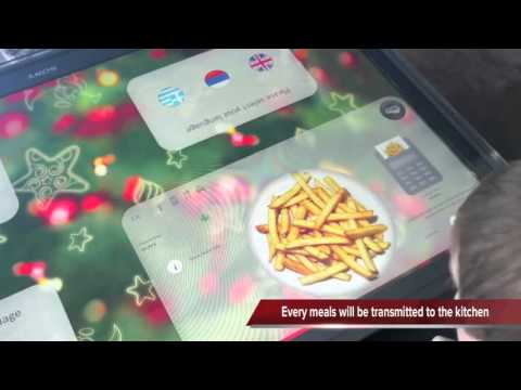 Multi-Touch Interactive Restaurant Table