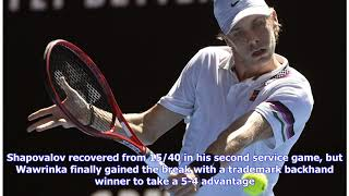 Stan Wawrinka Beats Shapovalov For Rotterdam Semi-final Berth | ATP Tour | Tennis