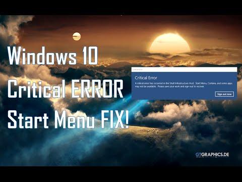 How To FIX Critical Error On Windows 10