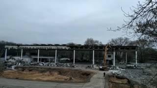 Начался снос крыши Белэкспо