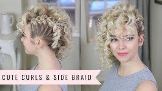Cute Curls & Side Pull Through Braid by SweetHearts Hair