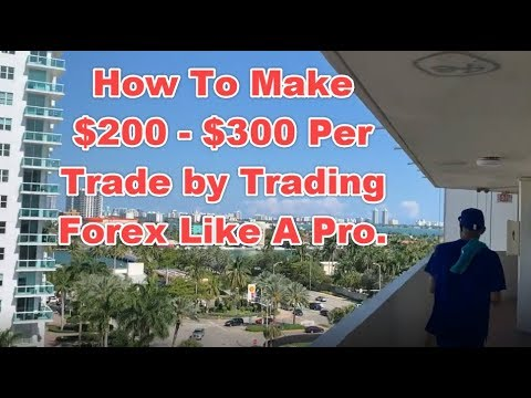 How to make $200 - $300 Per trade by trading forex