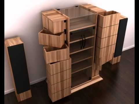 m beldesign animation eines hifi. Black Bedroom Furniture Sets. Home Design Ideas