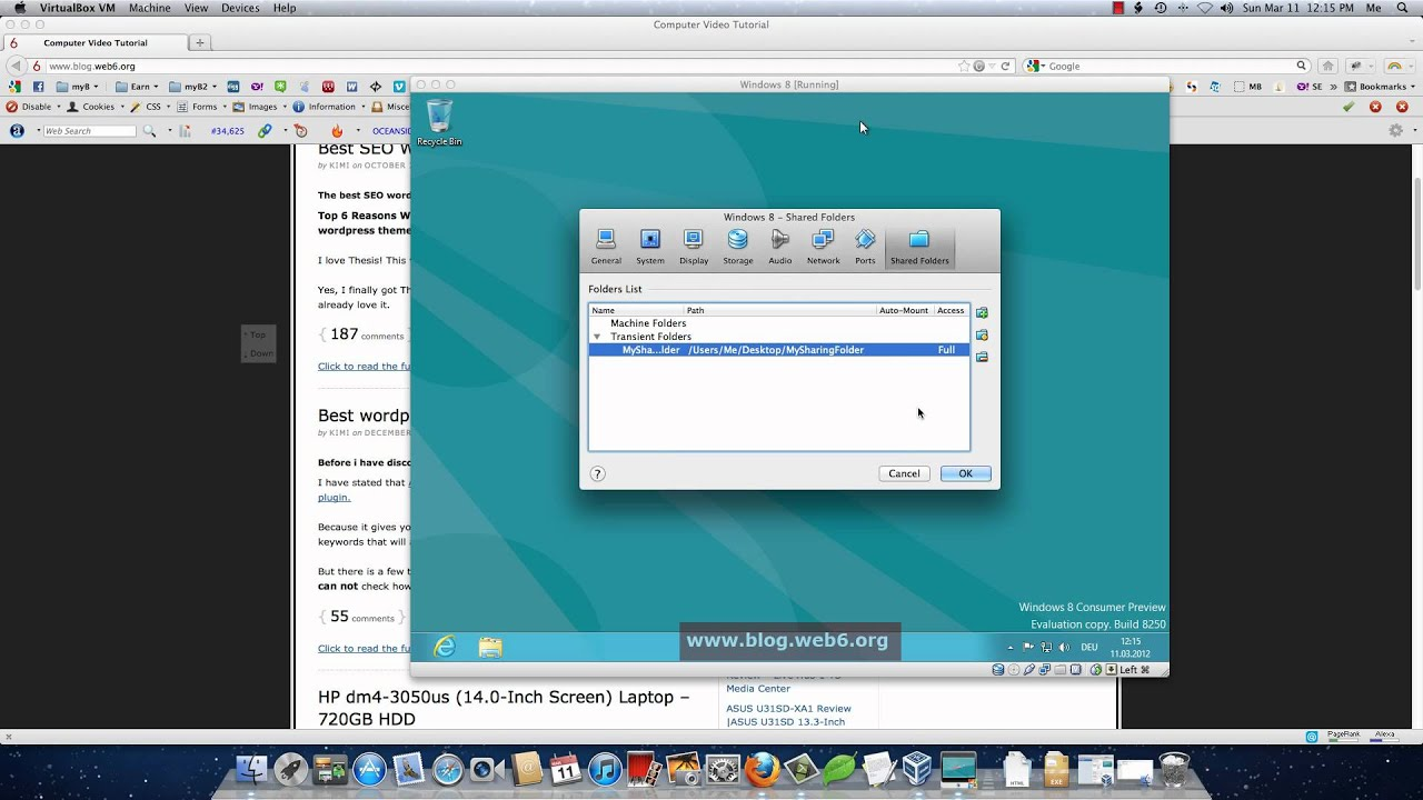 Virtualbox - shared folder: how to connect 2