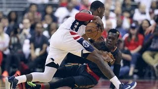 John Wall Takes Over With Crossovers and Dunks! Hawks vs Wizards Game 2