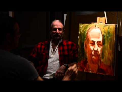 Joe Gyurcsak Portrait Demonstration 87th Exhibition