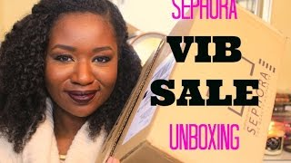 HUGE Sephora VIB SALE HAUL|Unboxing|Collaboration w/CosmeticallyChallenged