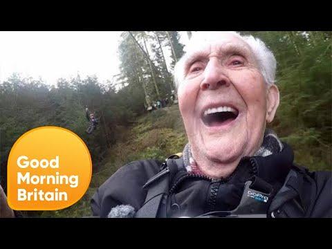 Maggi Mayfield  - Grandpa Breaks Zip Line World Record For Charity