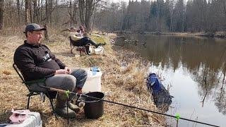 Открытие сезона 2020 Река Друть новое место Фидер в марте Рыбалка с ночевкой Жарим колбаски