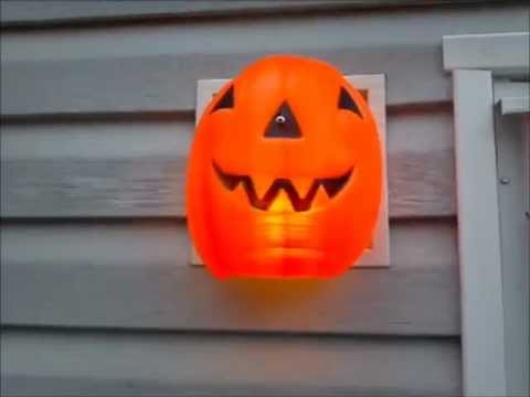 How To Make A Halloween Pumpkin Front Porch Light Cover